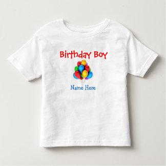 """Do """"t-shirt customizável do menino aniversário"""" t-shirts"""