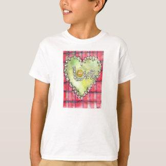 """Do """"tshirt do botão amor"""" da aguarela para seus t-shirt"""
