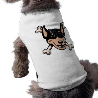 Dobe-n-Crossbones Camisa Sem Mangas Para Cachorro