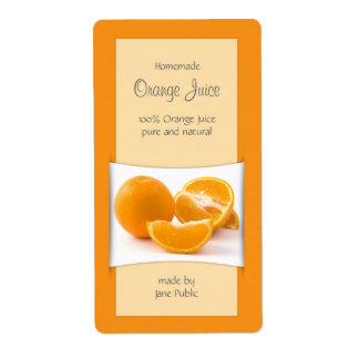 Doce de fruta elegante do doce do sumo de laranja etiqueta de frete