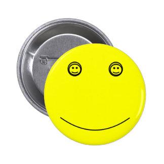 Doce engraçado de sorriso feliz, botão de Emoji do Bóton Redondo 5.08cm