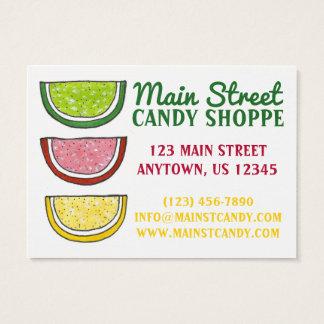Doce gomoso da comida da loja dos doces dos doces cartão de visitas