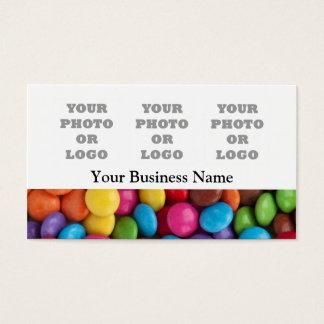 Doces coloridos ou teste padrão doce cartão de visitas