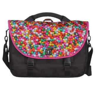 Doces com o saco cor-de-rosa do laptop mochila para laptop