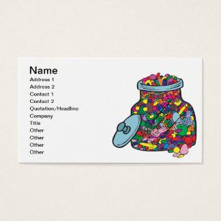 Doces da páscoa cartão de visitas
