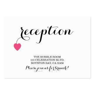 DOCES do cartão da recepção de casamento do Cartão De Visita Grande