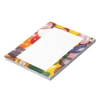 Doces doces coloridos legal dos feijões de geléia caderno de notas