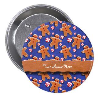 Doces dos biscoitos dos homens de pão-de-espécie bóton redondo 7.62cm