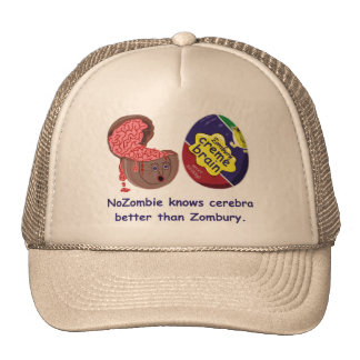 Doces engraçados do cérebro do zombi boné