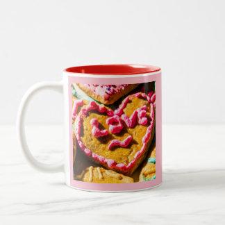 Doces para a caneca de café doce de dois tons