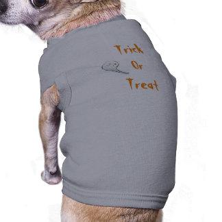 Doçura ou travessura camisa sem mangas para cachorro