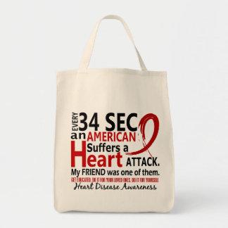Doença cardíaca/ataque do amigo de cada 34 segundo bolsa para compras