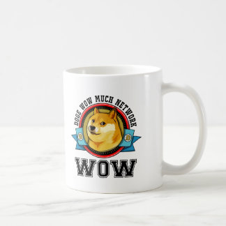 Doge wow muita rede wow caneca de café