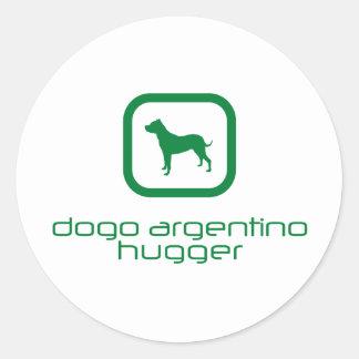 Dogo Argentino Adesivos Redondos