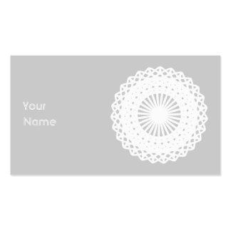 Doily. Imagem branca do círculo do laço Cartão De Visita