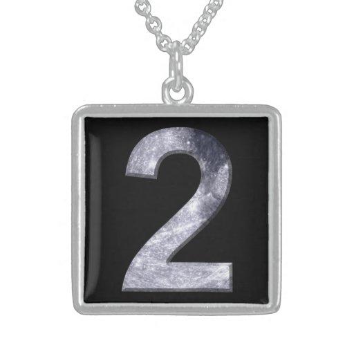 Dois afortunados número de poder lunar da numerolo bijuterias