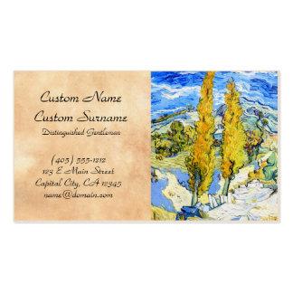 Dois álamos em um monte Vincent van Gogh Cartão De Visita