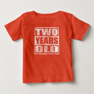 Dois anos velho - camisa feliz do segundo