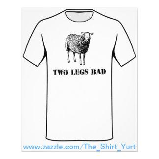 Dois carneiros do mau dos pés panfleto