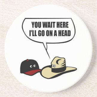 Dois chapéus porta copos de arenito