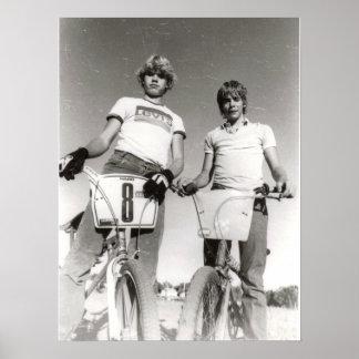 Dois impressão sujeito do vintage BMX (pode