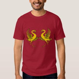 Dois pássaros amarelos t-shirts