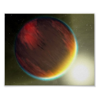 Dois planetas Extrasolar Impressão