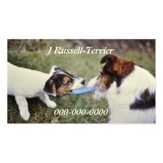 Dois terrier de Jack Russell Cartões De Visita