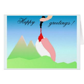 Dolomites engraçadas cartão comemorativo