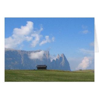 Dolomites Italia Cartão Comemorativo