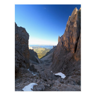 Dolomites na manhã cartão postal