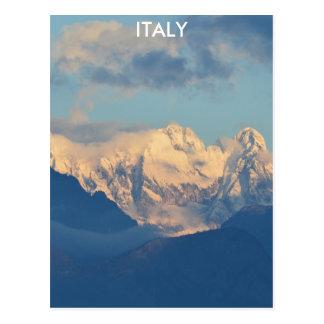 Dolomites tampadas neve cartão postal