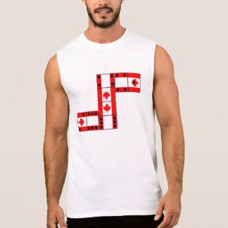 Dominó de Canadá Camisas Sem Mangas