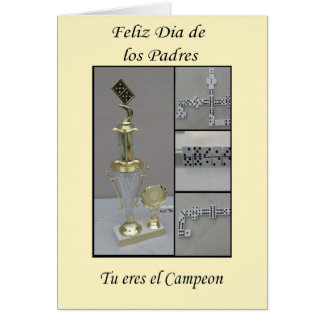 Dominoe de Feliz diâmetro de los padre Cartão Comemorativo