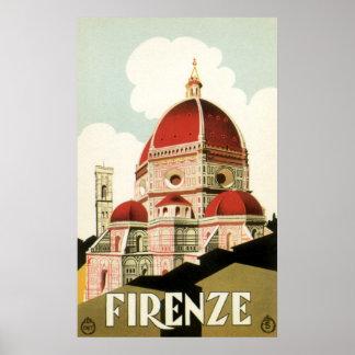 Domo da igreja de Florença Firenze Italia das viag Impressão