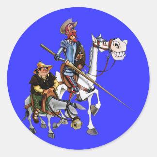 DON QUIJOTE, SANCHO, ROCINANTE y RUCIO - Cervantes Adesivo