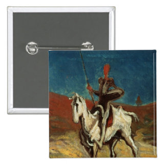 Don Quixote, c.1865-1870 Bóton Quadrado 5.08cm