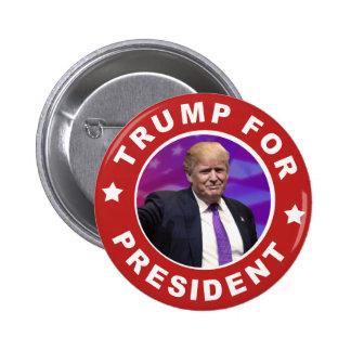 Donald Trump para o botão vermelho do presidente Bóton Redondo 5.08cm