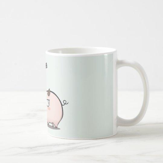 Don't mess with he pig caneca de café