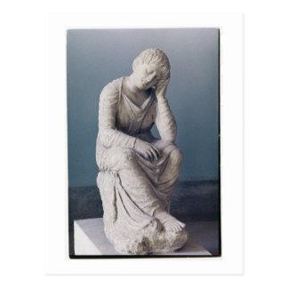 Donzela afligindo-se, sótão, piscina, c.330 BC Cartão Postal