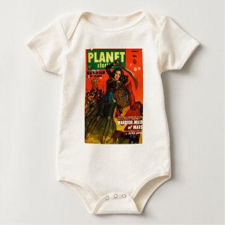Donzela da guerra em Marte Macacãozinho Para Bebê