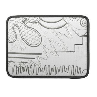 doodle abstrato bolsa para MacBook pro