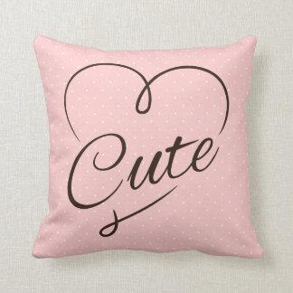 Doodle bonito do coração travesseiro