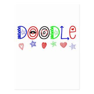 Doodle Cartão Postal