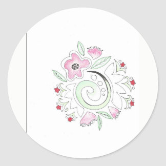 doodle da flor adesivo