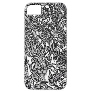 Doodle da flor capa barely there para iPhone 5