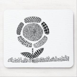 Doodle da flor mouse pad