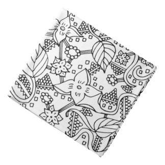 Doodle da flor pano para cabeça