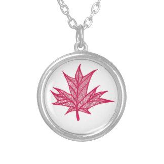 Doodle de Canadá Colar Com Pendente Redondo