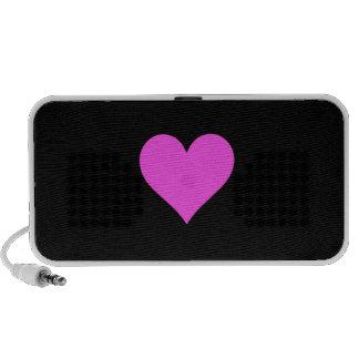 Doodle do coração caixinha de som para laptop